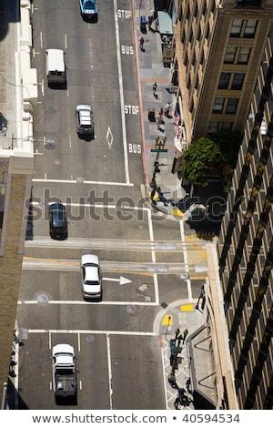 streets of San Francisco seen from a sky scraper Stock photo © meinzahn