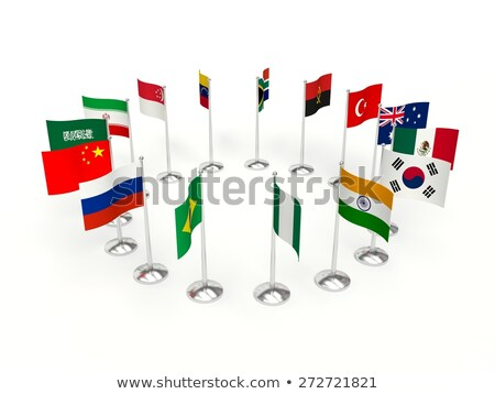 Iran Small Flag on a Map Background. Stock photo © tashatuvango