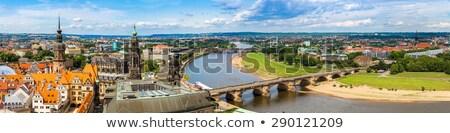 városkép · Drezda · folyó · víz · ház · város - stock fotó © joyr