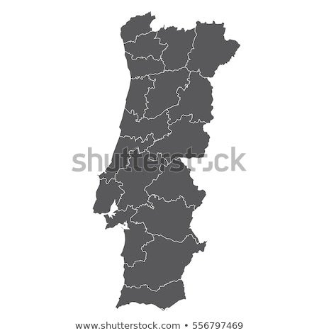 Portugal map Stock photo © kiddaikiddee