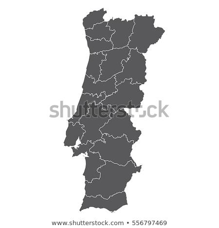 Portugal kaart textuur wereld kunst reizen Stockfoto © kiddaikiddee