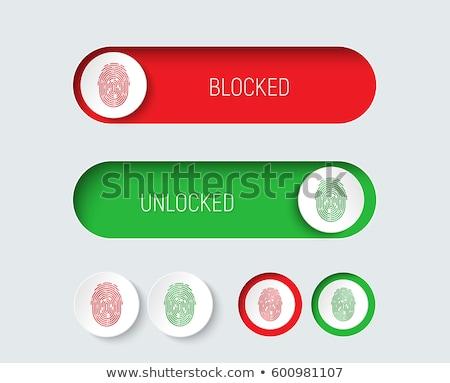 Unlock Green Vector Icon Button Stock photo © rizwanali3d