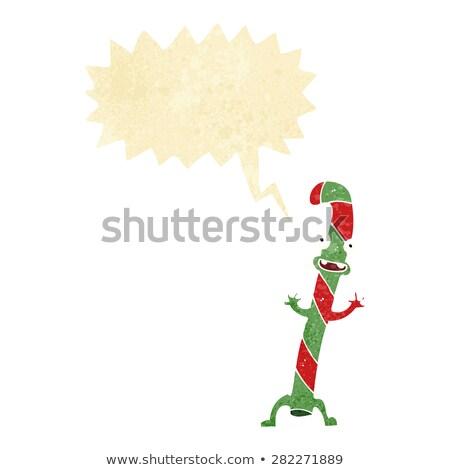 Cartoon danse Noël bonbons canne bulle Photo stock © lineartestpilot