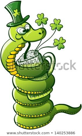 Funny Snake For St Patricks Day Foto stock © zooco