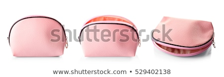 beautiful pink makeup bag isolated on white stock photo © tetkoren