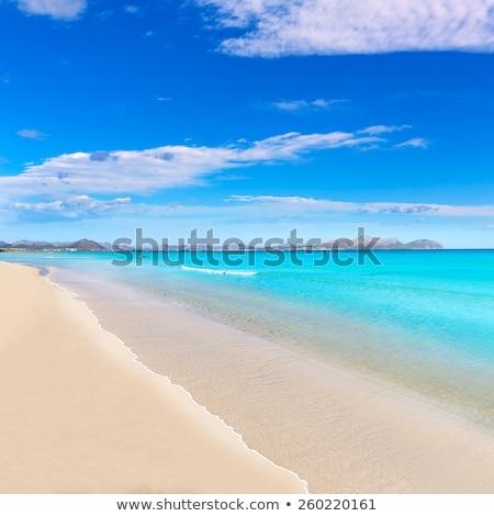 Beach on Mallorca, Can Picafort Stock photo © artjazz