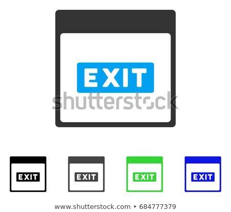 Groene sticky notes vector icon ontwerp digitale Stockfoto © rizwanali3d