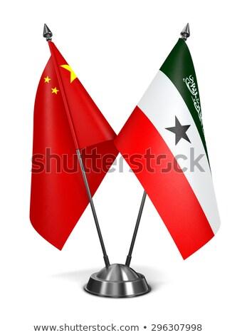 Cina miniatura bandiere isolato bianco sfondo Foto d'archivio © tashatuvango