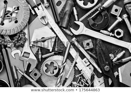 öreg · mechanizmus · közelkép · fehér · technológia · háttér - stock fotó © oleksandro