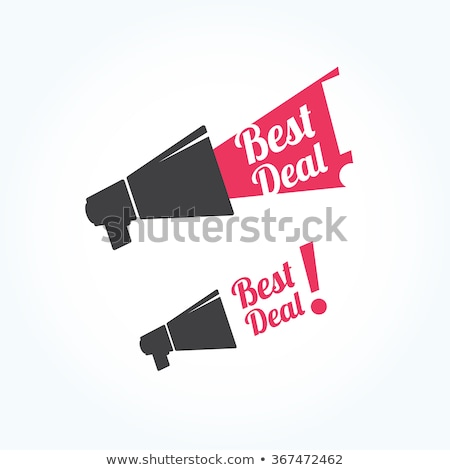 Best Deal Red Vector Icon Design Stock photo © rizwanali3d