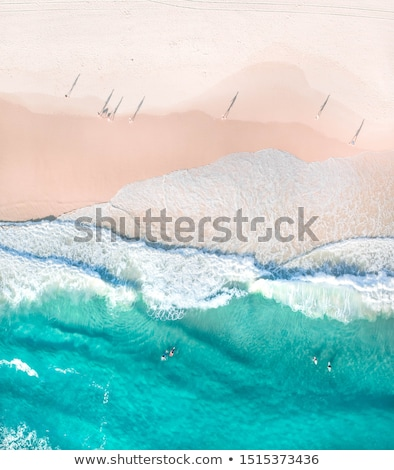 Stock photo: two shadow beach wave
