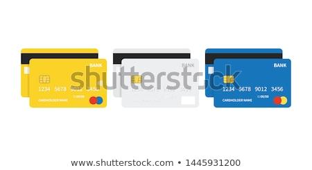 Creditcards Geel vector icon ontwerp digitale Stockfoto © rizwanali3d