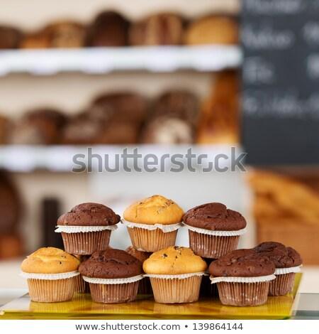 tatlı · çörek · soğutma · raf · gıda - stok fotoğraf © adrenalina