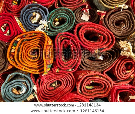 Rolled Rugs Inside A Rug Store Stock photo © Jasminko