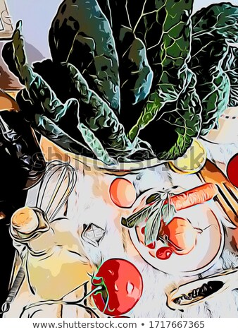 Seamless stewed cabbage closeup background. Stock photo © Leonardi