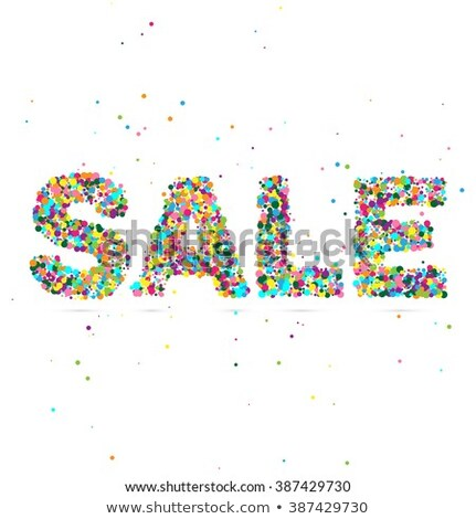 sale word consisting of colored particles stock photo © netkov1