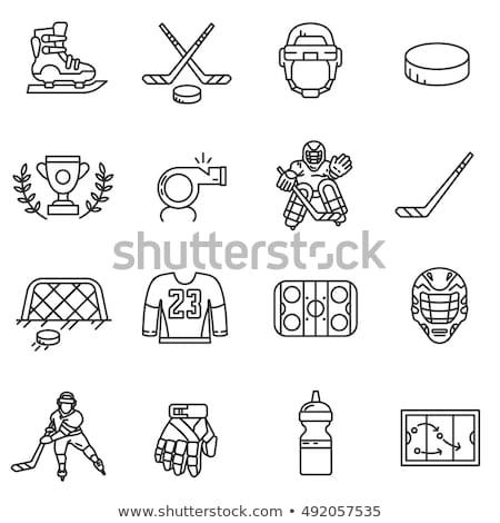 hockey player line icon stock photo © rastudio