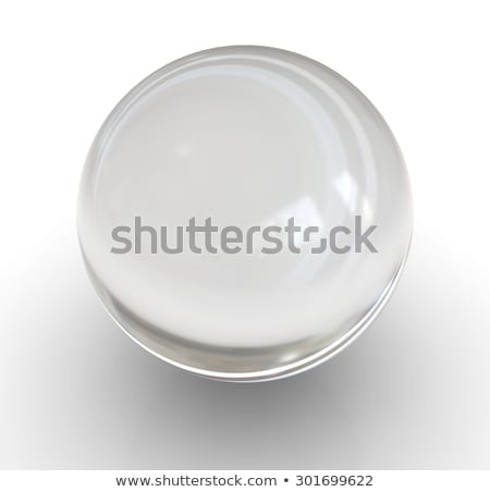 Glass ball with reflection. Empty transparent sphere Stock photo © popaukropa
