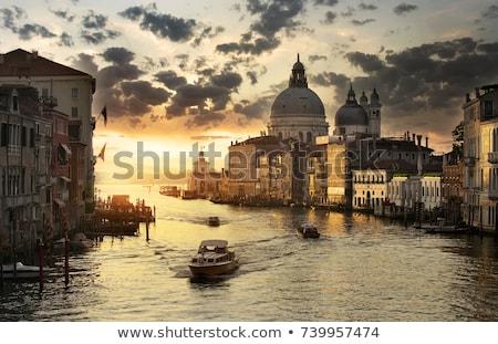 Ochtend Venetië kanaal brug academie landschap Stockfoto © SergeyAndreevich