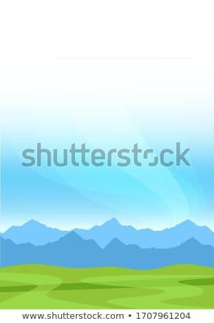 Vertical ilustração montanhas floresta grama abstrato Foto stock © Vertyr