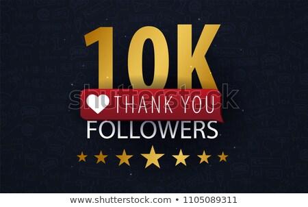 1000 siker köszönjük üzenet közösségi háló üzlet Stock fotó © SArts