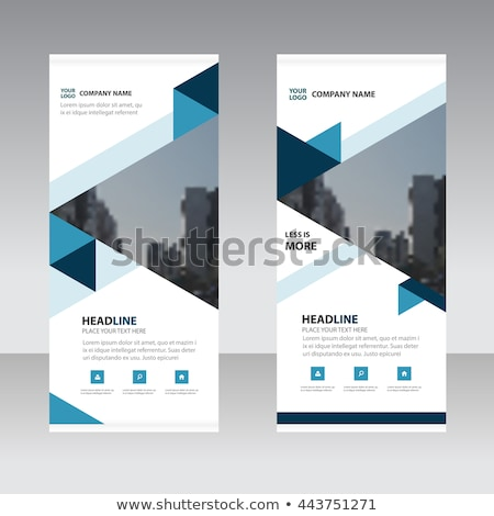 minimal blue trifold brochure layout background Stock photo © SArts