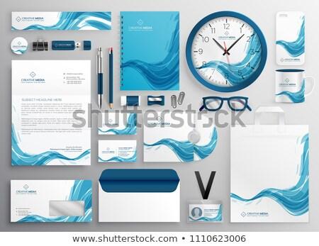 аннотация синий волна современных бизнеса канцтовары Сток-фото © SArts