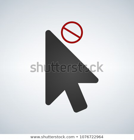 Cursor close or not available element icon for apps and web. vector illustration isolated on modern  Stock photo © kyryloff