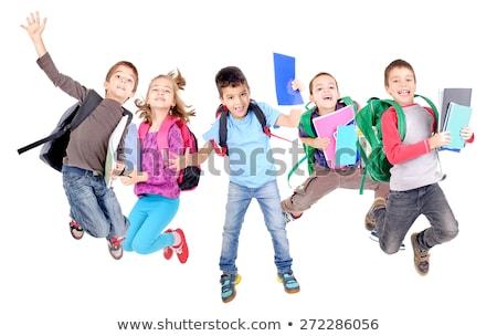Schooljongen oefening ingesteld water school Stockfoto © toyotoyo