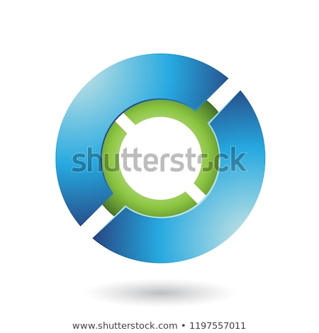 blue and green thick futuristic round disk vector illustration stock photo © cidepix