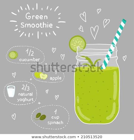 Amor vegan comida cartão alimentação saudável ilustração Foto stock © cienpies
