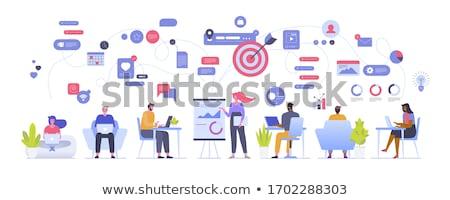 Strategii pracy zadanie kolekcja pracy Internetu Zdjęcia stock © robuart