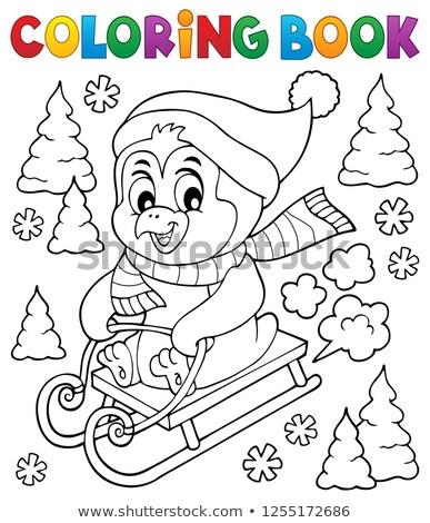 livro · para · colorir · inverno · sorrir · crianças · livro · projeto - foto stock © clairev