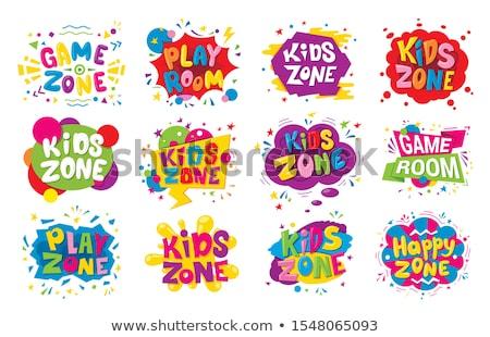 セット 子供 遊び場 実例 少女 サッカー ストックフォト © bluering