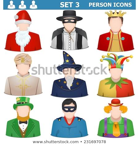 Jester Joker Man Avatar People Icon Stock photo © Krisdog