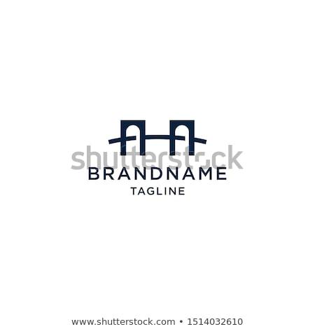 моста знак символ компания логотип икона Сток-фото © blaskorizov