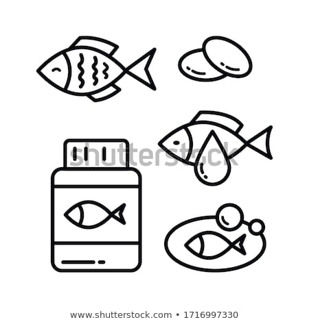 fish oil icon logo icon vector symbol Stock photo © blaskorizov