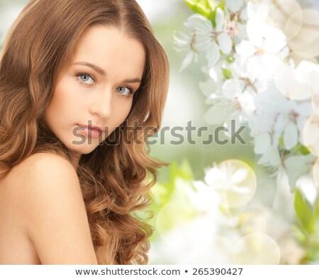 Hermosa desnudo mujer verde naturales bienestar Foto stock © dolgachov