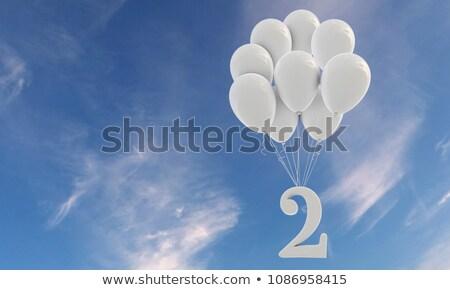 Number two balloon on sky Stock photo © colematt
