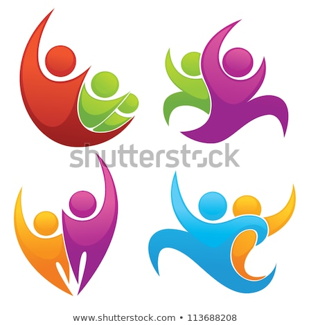 Man Sportive Person Icons Vector Illustration Stock photo © robuart
