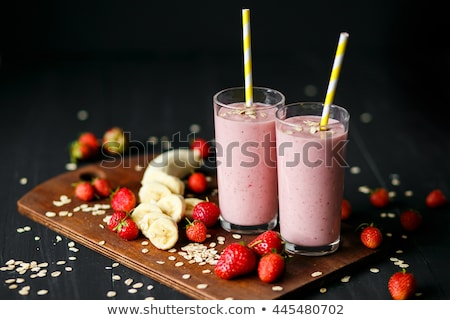 Oatmeal with strawberry, banana and ice cream Stock photo © furmanphoto