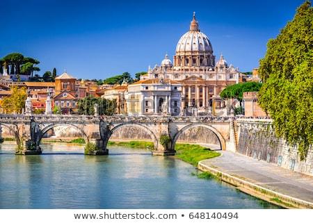 Sziluett Róma Olaszország panoráma város nyár Stock fotó © neirfy