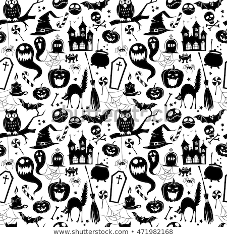 halloween set pattern stock photo © netkov1