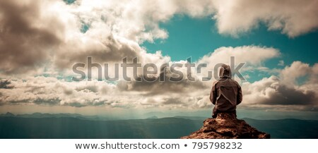 Eenzaam man volwassen gehandicapten rolstoel vergadering Stockfoto © pressmaster