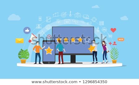 Online reputation management concept vector illustration Stock photo © RAStudio