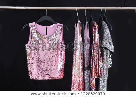 Stockfoto: Meisje · gestreept · shirt · witte · houten · vrouwen
