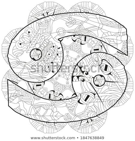 vector · schets · cute · dierenriem · cirkel · horoscoop - stockfoto © natalia_1947