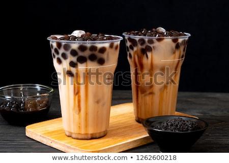 Pearl milk drink on white. Bubble tea Stock photo © joannawnuk