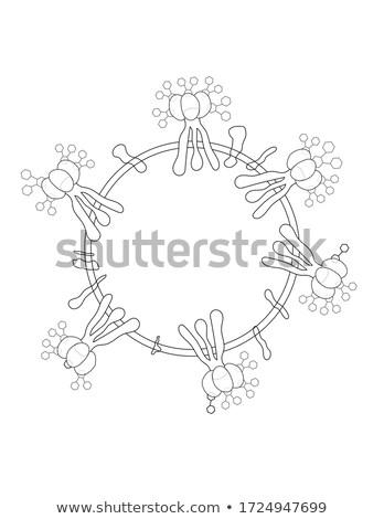 Virion of novel coronavirus without color fill Stock photo © kyolshin