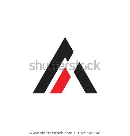手紙 ロゴデザイン 幾何学的な 三角形 矢印 テンプレート ストックフォト © kyryloff